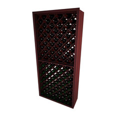 Dimona Wine Rack, Redwood and Mahogany