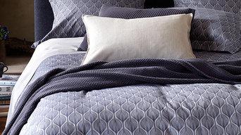 Teasels Navy Bed Linen