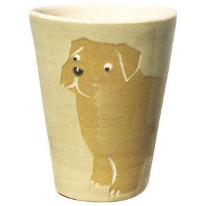 Sand Animal Cups, Norfolk Terrier, Set of 2