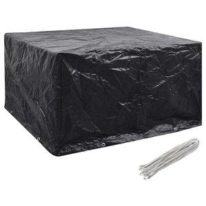 VidaXL Garden Furniture Cover, 6 Person Poly Rattan Set 8-Eyelet, 172x113 cm