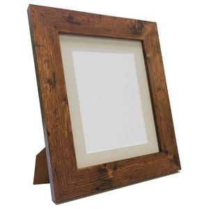 """Brix Frame, Vintage Wood, Light Grey Mount, 6x4"""", Image 4.5x2.5"""""""