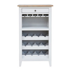 Baumhaus Signature Grey Wine Rack/Glass Storage Cabinet