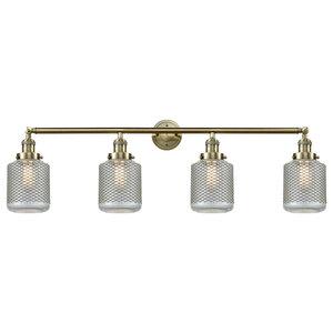 Stanton 4-Light LED Bath Fixture, Antique Brass