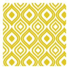 Ikat in Gold Shelf Paper Drawer Liner, 36x24, Laminated Vinyl