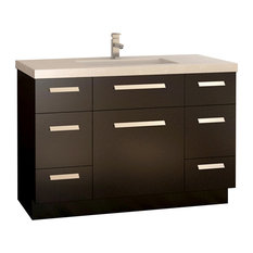 "Moscony 48"" Single Sink Vanity Set, Espresso"