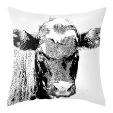 Black Cow Pillow Cover, 20x20