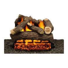"""24"""" Cordoba Logs, Single Burner, Pilot Kit and V. Flame Remote, Natural Gas"""