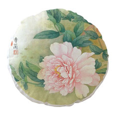 "17.7"" Chinese Characteristics Round Indoor/Outdoor Bistro Chair Cushion,Flower,A"