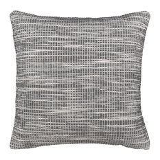 "Stockholm Indoor Outdoor Decorative Pillow, Charcoal, 20""x20"""