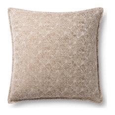 Loloi P0890 Neutral Decorative Accent Pillow, Beige, Polyester/Polyfill