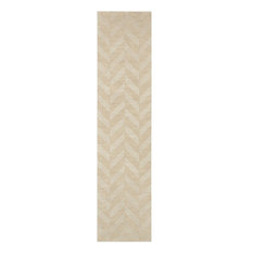 """Artistic Weavers - Solid/Striped Central Park Carrie Area Rug, Ivory, Hallway Runner 2'3""""x10' - Hall and Stair Runners"""