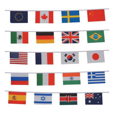 In the Breeze - String of 20 International Flags - Flags and Flagpoles