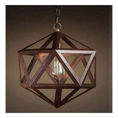 Industrial Hex Ceiling Lamp