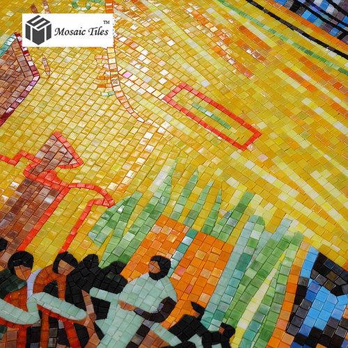 TST Mosaic Murals Deco Wall Art Mosaic Van Gogh Oil Painting The ...