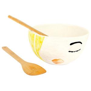Azurra Bowl, Yellow, Large