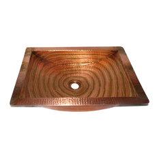 Rectangular Undermount Bathroom Copper Sink