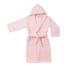 - Superior Egyptian Cotton Kids Hooded Unisex Terry Bath Robe, Large, Pink - Bathrobes