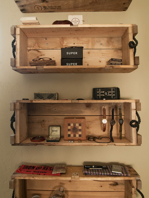 Old Wooden Crates As Shelves Houzz