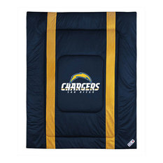 NFL San Diego Chargers Twin Comforter Sidelines Football Bed