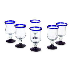 Spring, Set of 6 Water Glasses, Mexico