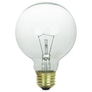 Sunlite 25 Watt G25 Globe Medium Base Clear Traditional Incandescent Bulbs By Bulb Center