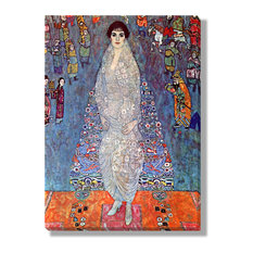 'Portrait of Baroness Elisabeth Bachofen-Echt' Canvas Gallery Wrap by Gustave Kl