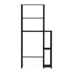 Furinno Turn-N-Tube Toilet Space Saver With 5 Shelves, Espresso and Black