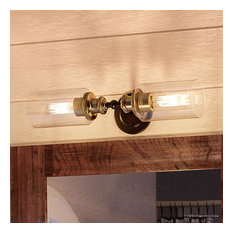 Luxury Industrial Bathroom Vanity Light, Lincoln Series, Olde Bronze