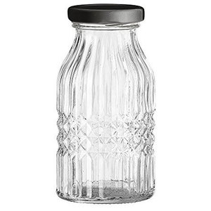 Bloomingville Clear Glass Bottle With Lid