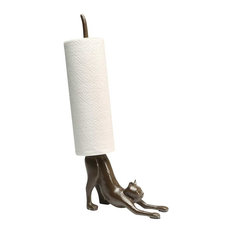 What On Earth Exclusive Cast Iron Yoga Cat Paper Towel Holder