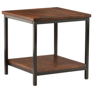 Skyler Cognac Brown Mango Wood End Table