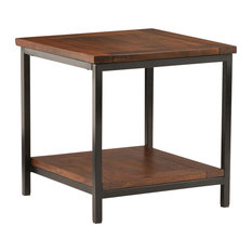 Skyler Cognac Brown Mango Wood End Table