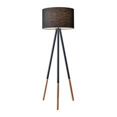"Adesso 6285 Louise 1 Light 60-1/4""H Tripod Floor Lamp - Black Painted Metal /"
