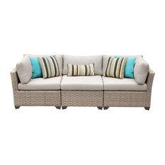TKClassics   Hampton 3 Piece Outdoor Wicker Patio Furniture Set 03b    Outdoor Sofas