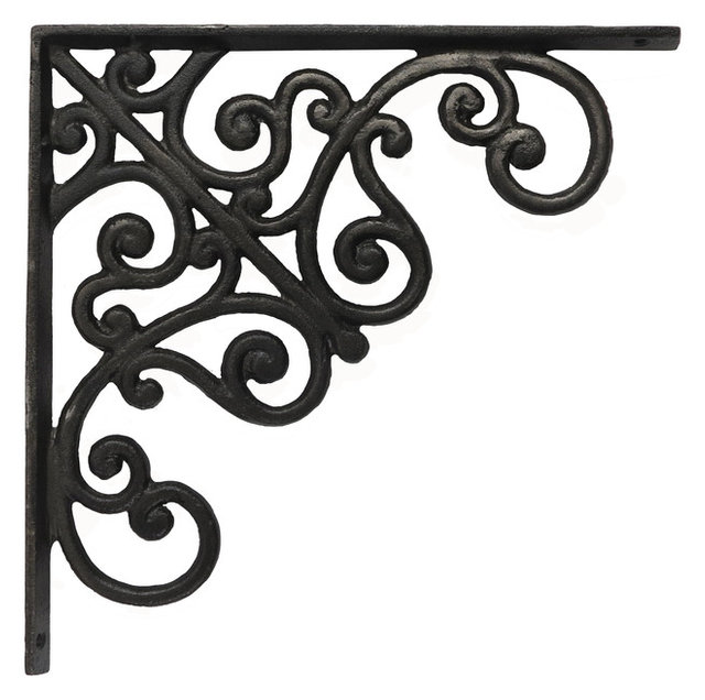Wrought Iron Corner Door Brackets 2 Decor 6 Flat Corner