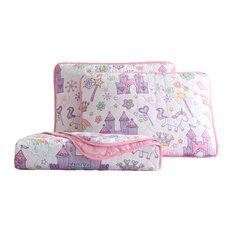 Kute Kids Unicorn Magic Castle 3-piece Quilt Set, Full/Queen