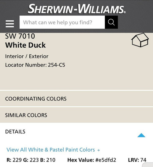 Color Geniuses Can I Get Your Opinion White Duck And Tin Lizzie