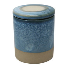 Sagebrook Home Outdoor Citronella Candle In Ceramic, Blue Candle holder Tealight