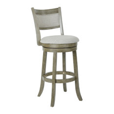 "Swivel Stool 30"" With Solid Back, Antique Gray"