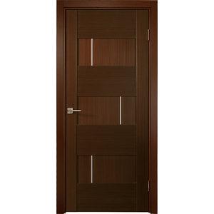 """Dominika Interior Door Wenge Finish, 23 1/2""""x78 3/4"""", Left Hand"""