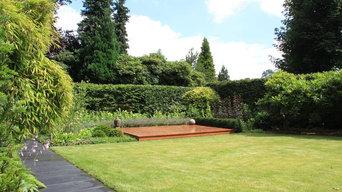 Moderner Hausgarten