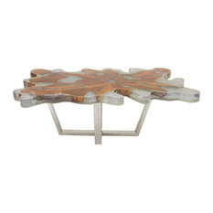 Erin Teak and Stainless Steel Coffee Table