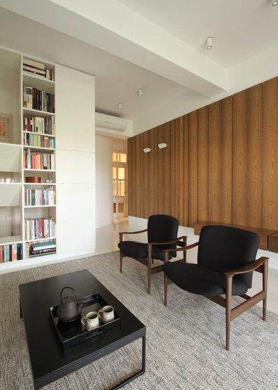 Contemporary Living Room by FUSIONstudio