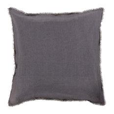 "Surya - Surya Eyelash Linen Medium Square Pillow, 20""x20"" - Decorative Pillows"