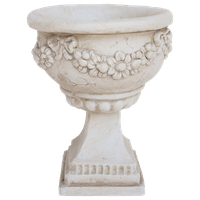 GDF Studio Nina Botanical Lightweight Concrete Chalice Decorative Urn Planter