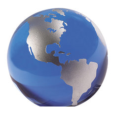 """Blue And Silver Globe 3.2"""""""