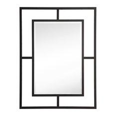 "Boston 30"" Rectangular Mirror by James Martin Vanities, Matte Black"