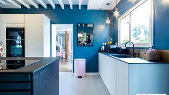 cuisine moderne et bleu