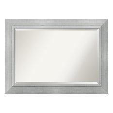 "Bathroom Mirror, Fits Standard 30"" to 48"" Cabinet, Romano Silver, 43""x31"""
