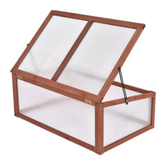 Costway Garden Portable Wooden Green House Cold Frame Raised Plants Protection